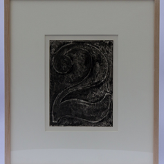 25. Numeral 2, 1976 Chiffre 2 (deux) 9 5/16 x 6 15/16 Etching, lift-ground aquatint, crayon stop-out, and open-bite