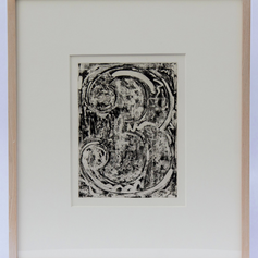 33. Numeral 3, 1976 Chiffre 3 (trois) 9 3/8 x 7 3/16 in. Stop-out varnishes over aquatint ground