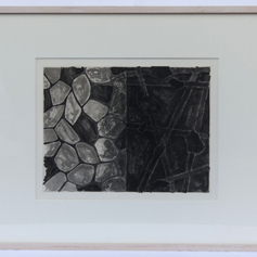 44. Flagstones and Casts, 1976 Flagstones et Plâtres 10 13/16 x 14 1/4 in. Etching, lift-ground aquatint, and open-bite The last double page etching, Flagstones and Casts separates the French and English texts of Fizzle 5. The casts themselves are evoked by a controlled, classical etching style, reminiscent of Rembrandt's mature etchings of the 1650s and Picasso's etchings of the 1930s.