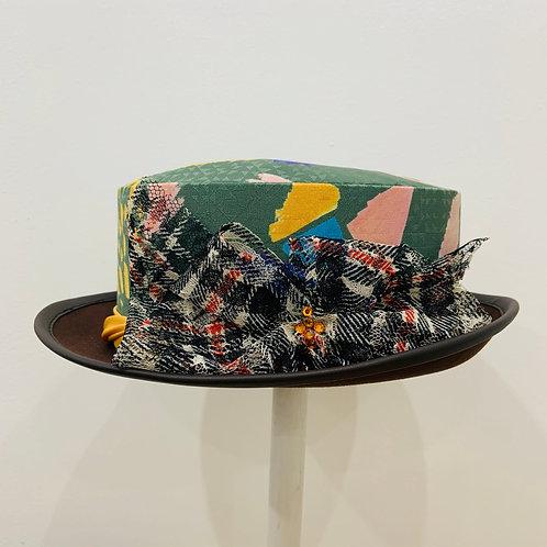 コラ帽_猫柄HAT_カーキ004