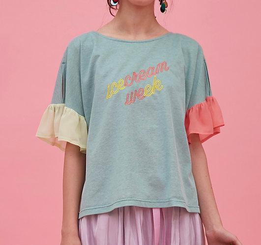 Neon sign Tシャツ_PO0625_4月