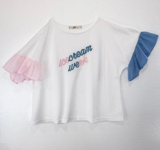 Neon sign Tシャツ_PO0601_4月