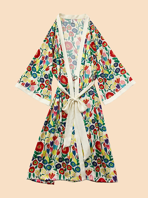Kimono Robe_ハンドフラワーRB0170