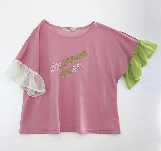Neon sign Tシャツ_PO0654_4月