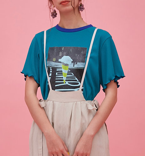 Knit ice cream Tシャツ_PO1435_3月