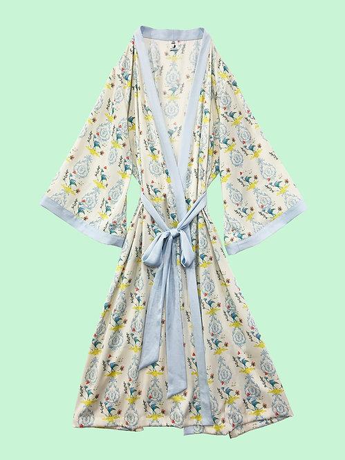 Kimono Robe_恐竜アイボリーRB0102