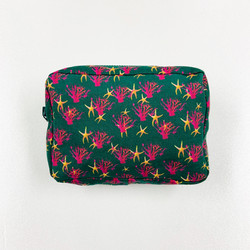 MAKEUP POUCH/ サンゴGREEN