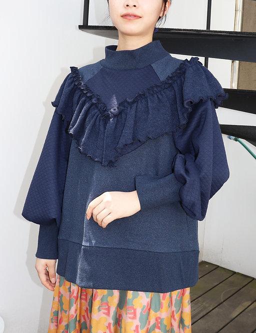 Frill knitプルオーバー_PO0137_9月