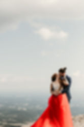 Blue Mountains Engagement Red dress