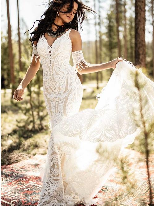All Who Wander Designer Wedding Dress Rental - Rowan