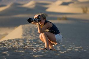 Desert Photographer in Death Valley