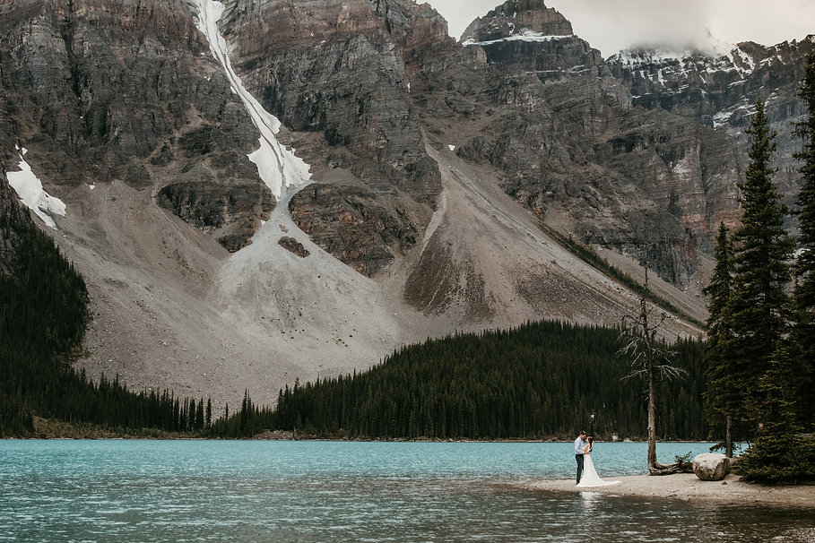 Banff Moraine Lake intimate wedding