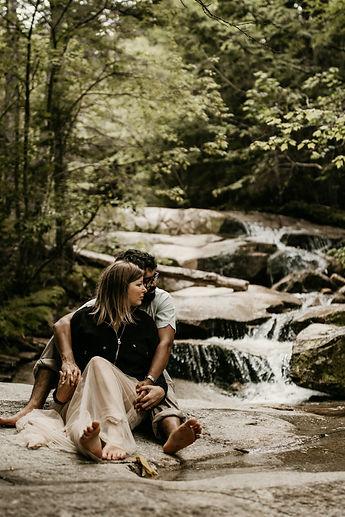 Franconia Notch Waterfall Engagement