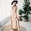 Thumbnail: Slip Dresses - beige and white