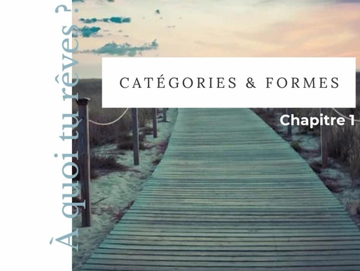 Initiation aux rêves médiums - Chapitre 1 - Catégories et Formes