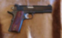 customized Colt 1911, customized handgun, trigger job, Novak sights