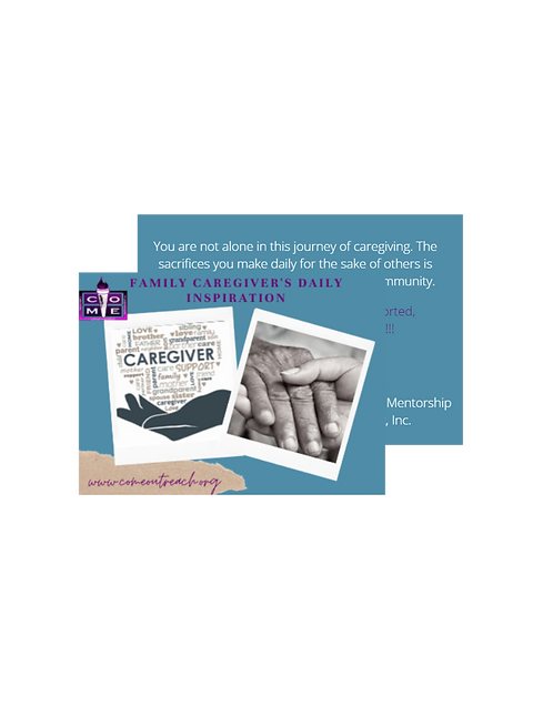 Family Caregiver's Affirmation Cards