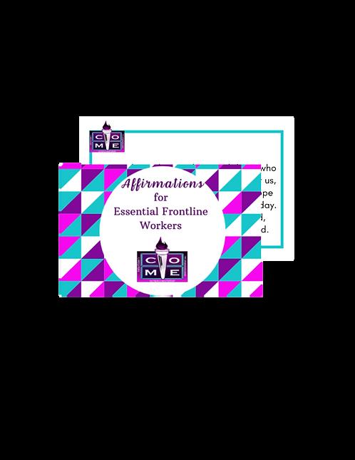 Essential Worker's Affirmation Cards
