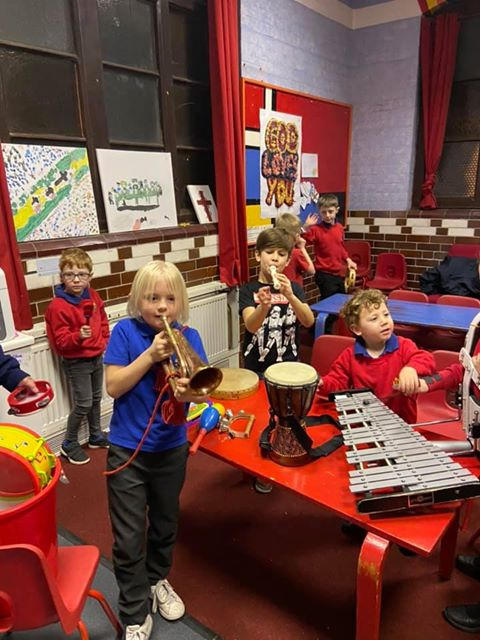 Anchors learning about different instruments