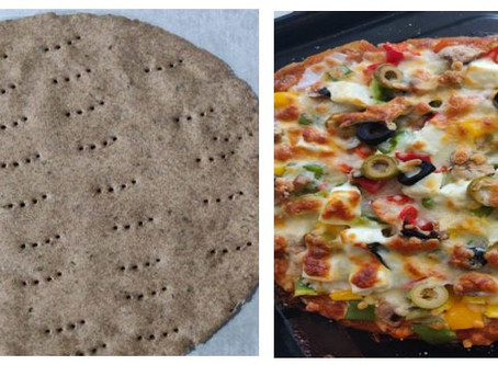 Recipe: Ragi Whole Wheat Pizza Base