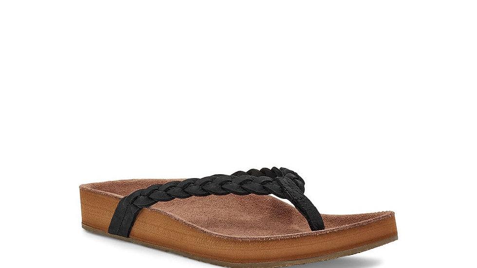 Womens She Loungey Braid Leather
