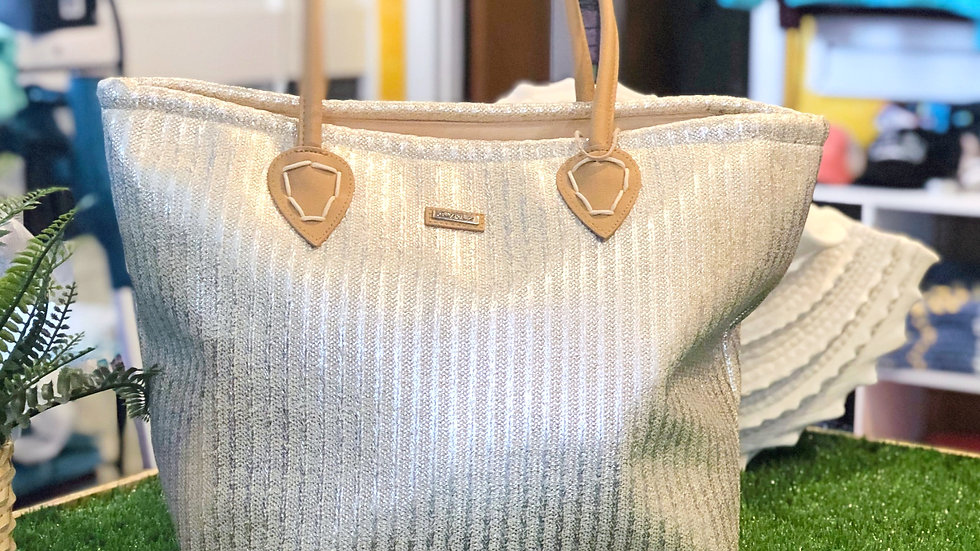 Sun and Sand Poly Straw Capria Bag