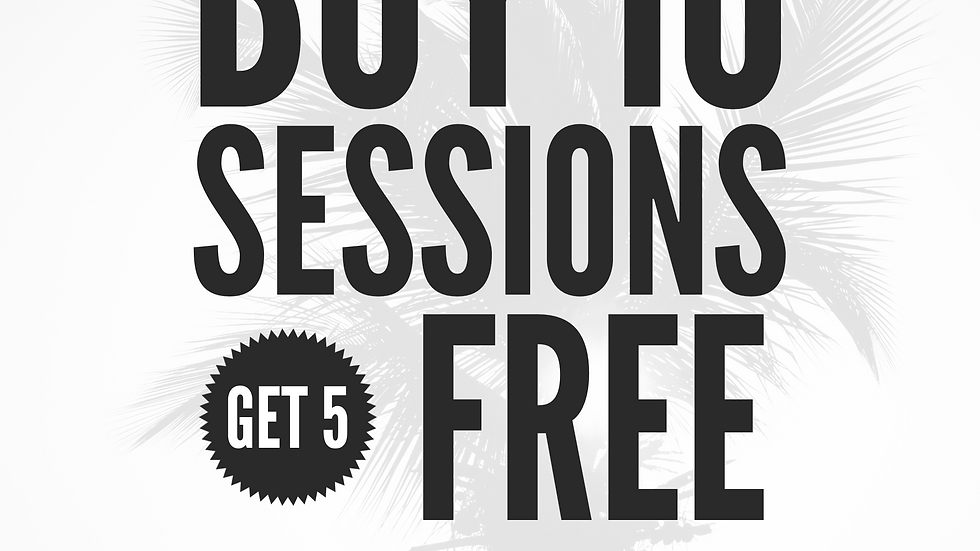 Buy 10 Solstice Sessions get 5 free