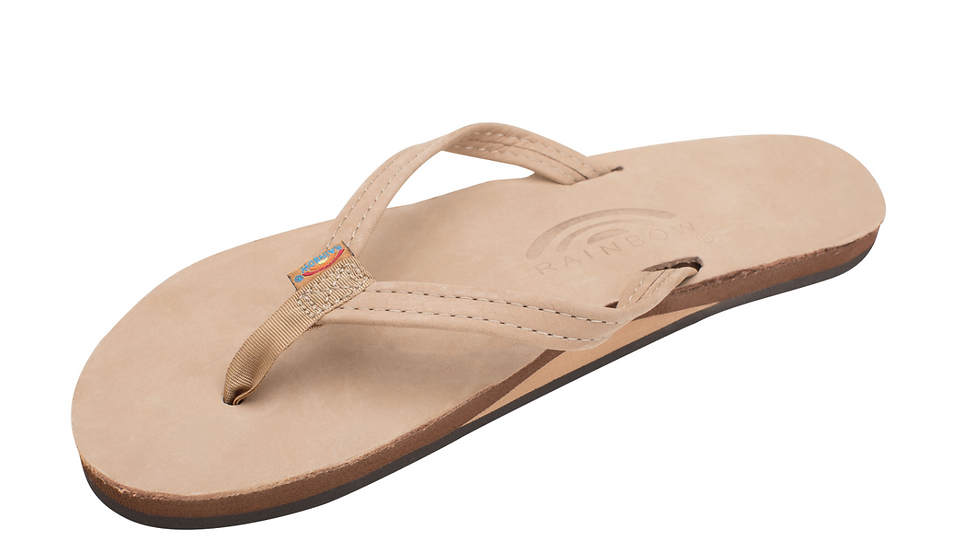 Womens Single Layer Premier Leather Arch Support and Narrow Strap