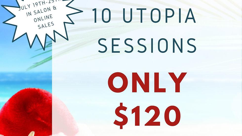 10 Utopia Sessions $120