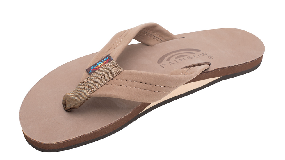 Womens Single Layer Premier Leather Arch Support and Wide Strap