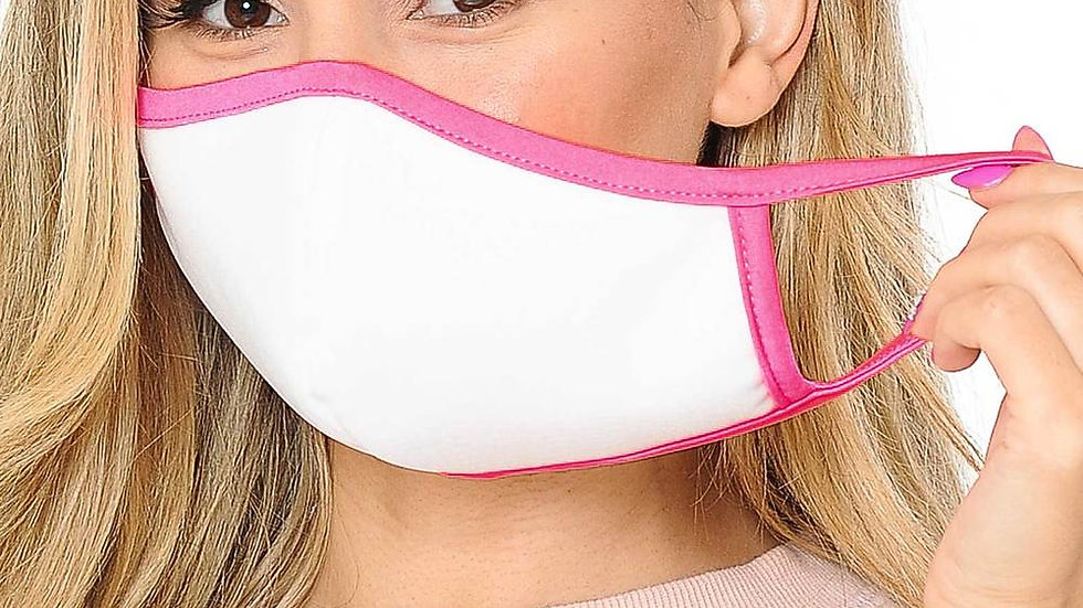 Womens Cotton Inner Silky Scuba Outer Face Masks
