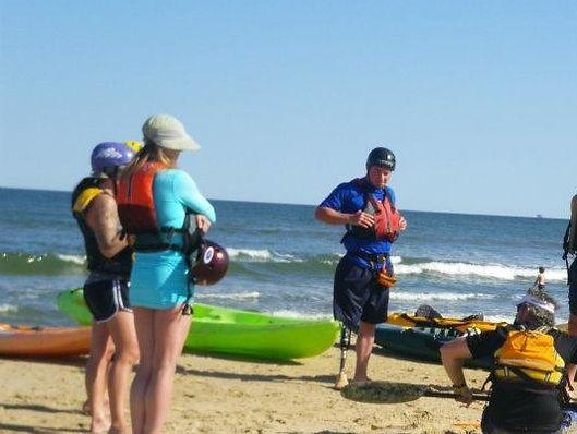 Surf kayak instruction