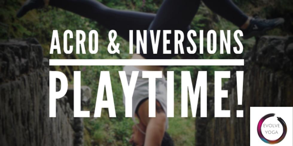Inversions and Acro Yoga Jam