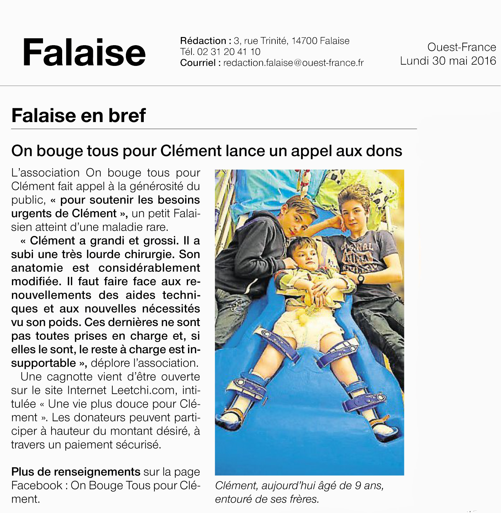 ouest france cagnotte 30 mai 2016