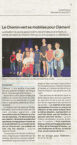 Ouest France 30 Août 2017