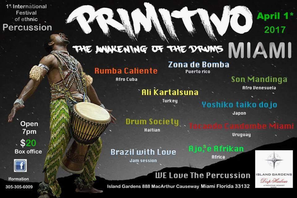 Una noche de tambores de alrededor del mundo… Haiti, Cuba, Venezuela, Uruguay, Turquía, Japón, y por supuesto - Puerto Rico! Come out and join us… going to be a great night of drums from across the world!