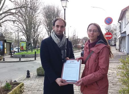 4ème signature du pacte pour la transition d'un(e) candidat(e) aux municipales