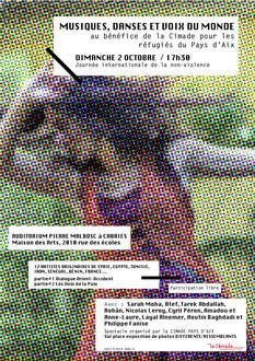 MUSIQUES, DANSES & VOIX DU MONDE DIMANCHE 2 OCTOBRE 2016 À CABRIES