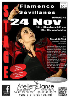 Stage Flamenco et Sévillanes en novembre à Trets