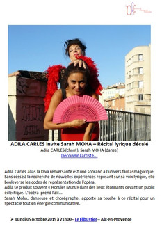 ADILA CARLES & SARAH MOHA : RÉCITAL LYRICO-DÉCALÉ