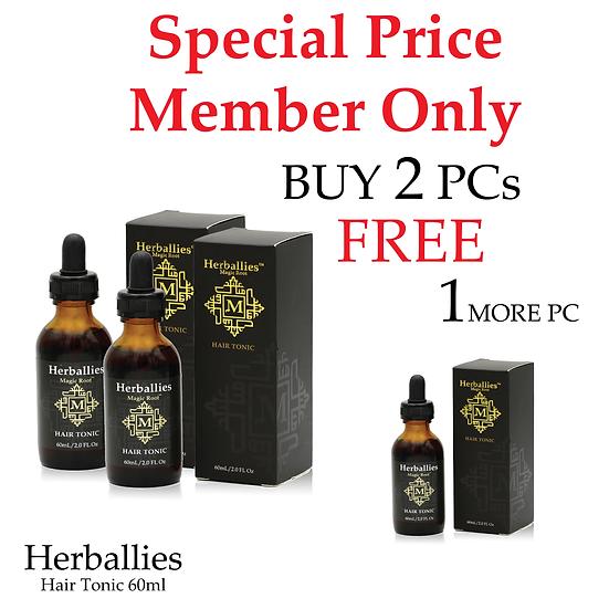 Member - Herbaliies Hair Tonic 60ml Set 3