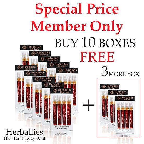 Member-Herballies Hair Tonic Spray 10ml x4 (Pack 10 Free 3)