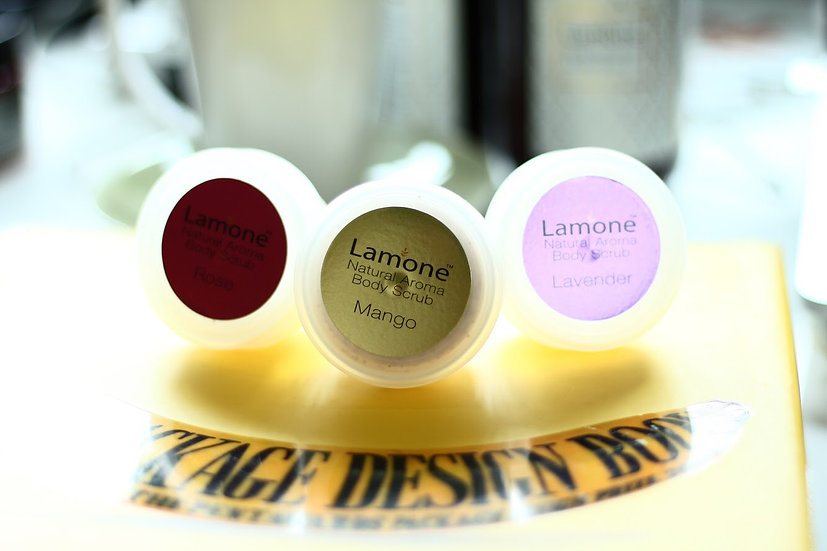 Lamone Natural Bodyscrub 20 g Set :3 scents