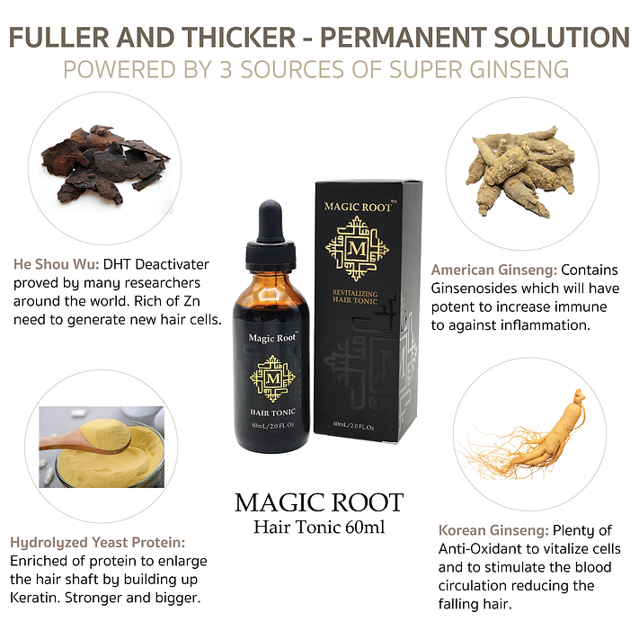 MAGIC ROOT Herbal Hair Regrow Best for t