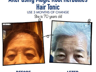 Result from our Customer Magic Root Herballies Hair Tonic