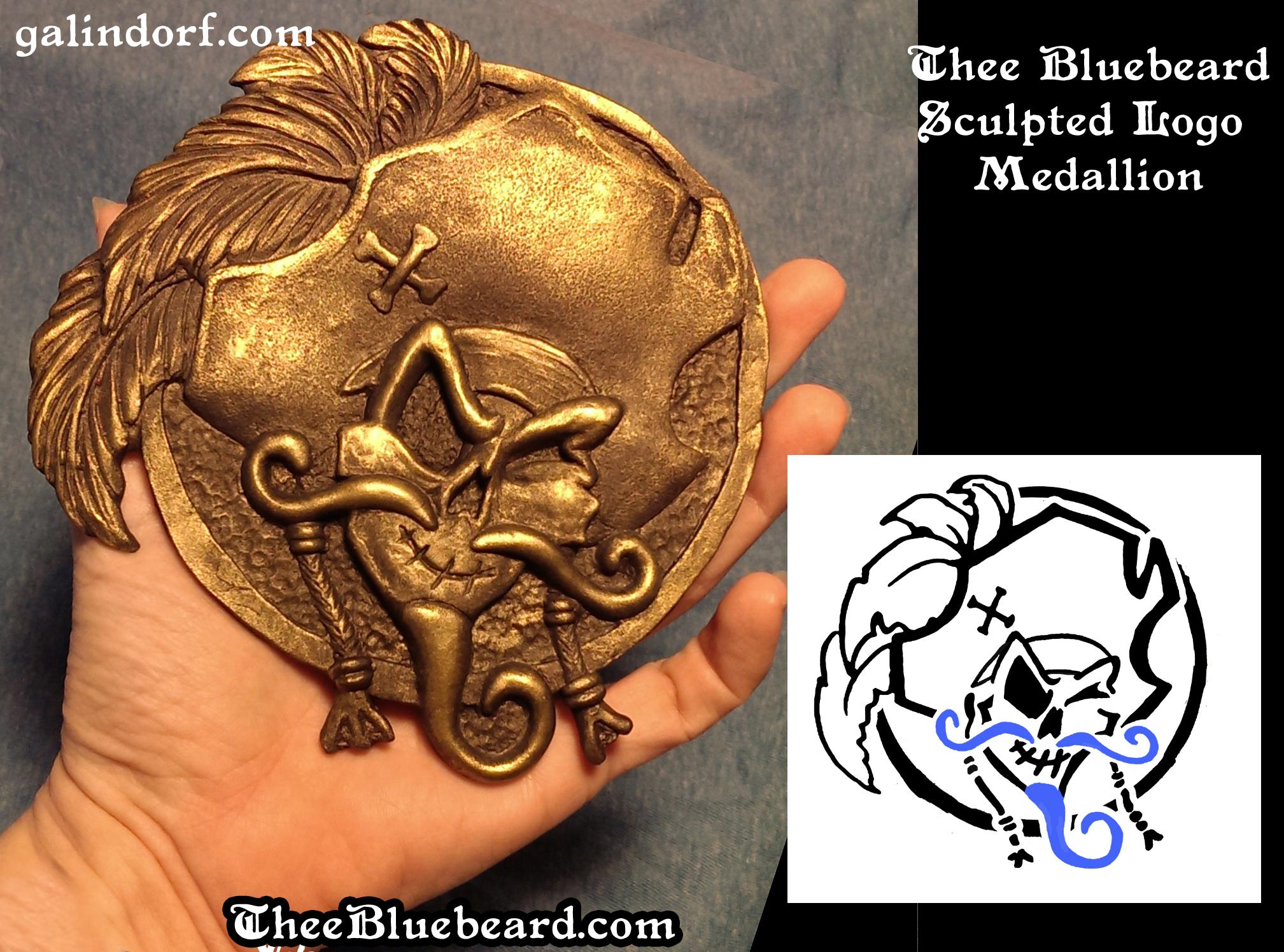 Thee Bluebeard Bronze Logo