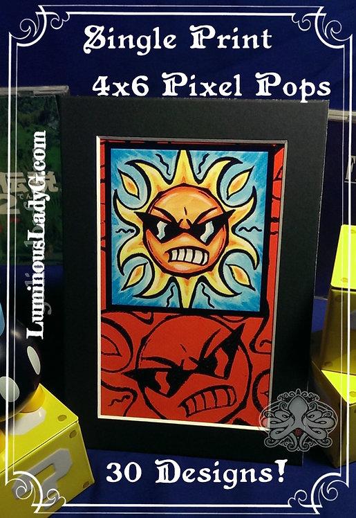 Pixel Pops 4x6 Single Print