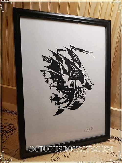 """'The Hound of Ulster' - 11""""x17"""" Cut Paper"""