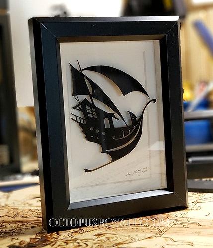 """'Ghaf of Oryx' 5""""x7"""" Cut Paper"""