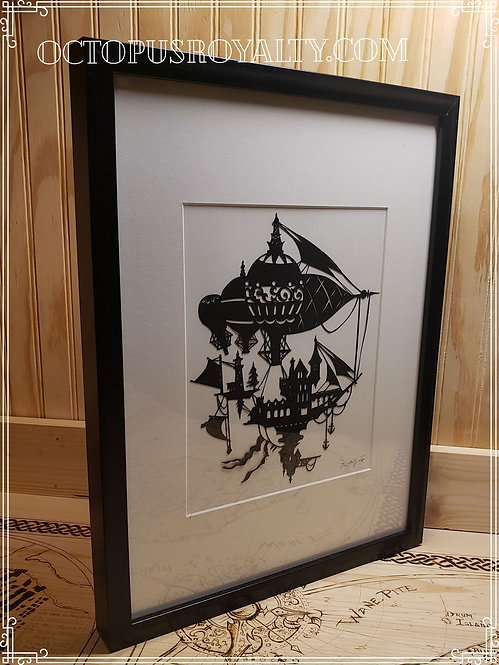"'Sky Manor Gilling' - 11""x17"" Cut Paper"